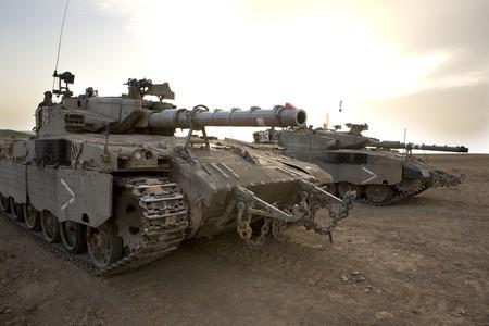 Israeli army armored corp, tank Merkava photo