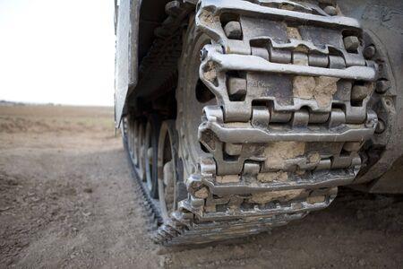 Israeli army armored corp,Caterpillar of tank Merkava photo