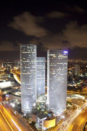 azrieli center: Night city, Azrieli center, Israel
