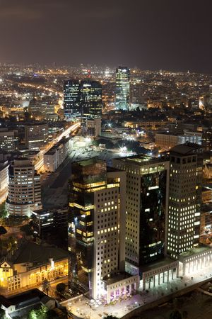 Tel Aviv at night, Skyline Israel photo