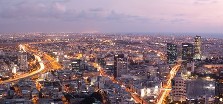 Skyline -  Tel Aviv at sunset