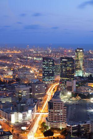 Tel Aviv at sunset, Israel photo