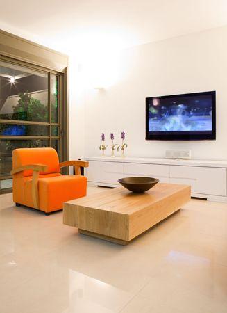 tv room: Modern room with plasma tv