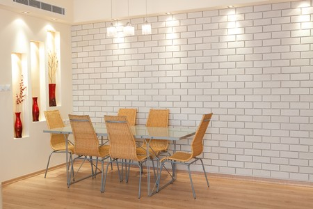 dining table and chairs: Modern Dining Room