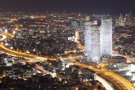 テル ・ アビブの夜 - 夜の街で 報道画像