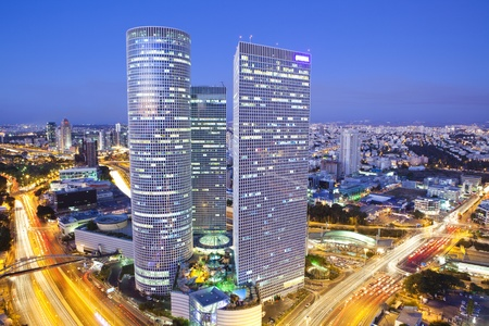 and israel: Tel Aviv at sunset, Israel
