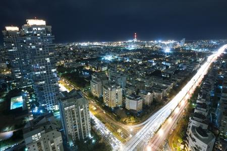 Tel Aviv at night, Israel photo