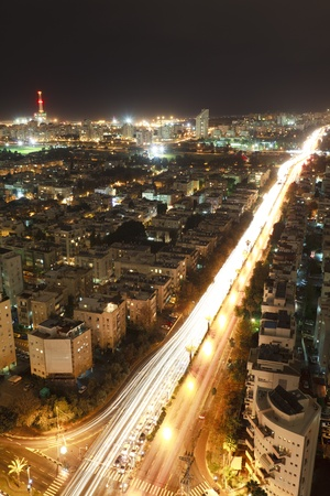 Tel Aviv night, Israel Stock Photo - 9909731