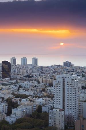 Tel Aviv at sunset, Israel Stock Photo - 9899863