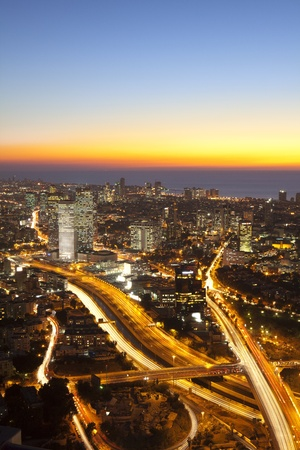 Tel Aviv bei Sonnenuntergang