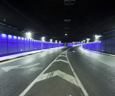 yom kipur: Interior of urban tunnel without traffic - This image was taken from three different shots Editorial
