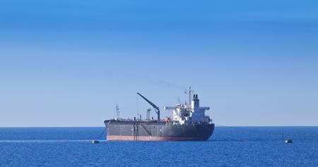 Chemical tanker in harbor