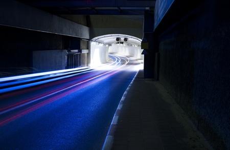 Interior of urban tunnel with traffic Standard-Bild