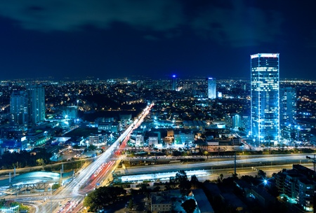 Night city, Tel Aviv at night, Israel Stock Photo - 11314825