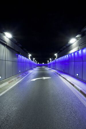 yom kipur: Interior of urban tunnel without traffic