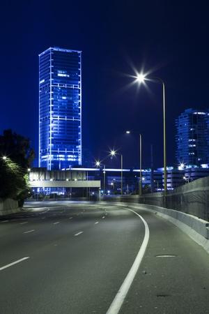 yom kipur: Empty freeway at night