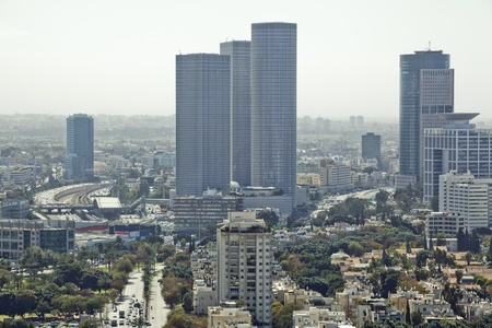 Tel Aviv  skyline  at day / Aerial view of  Tel Aviv Stock Photo - 11314829