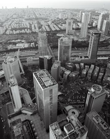 Tel Aviv at black and white, Ramat Gan Exchange District