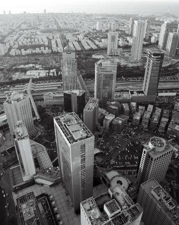 ramat aviv: Tel Aviv at black and white, Ramat Gan Exchange District