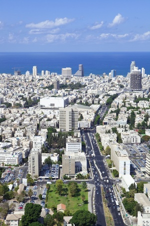 Tel Aviv  skyline / Aerial view of  Tel Aviv