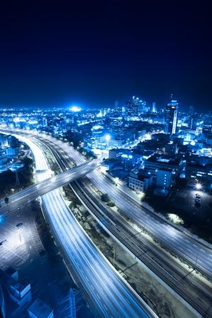 Aerial  View Of Tel Aviv At Night - Tel Aviv Cityscape photo