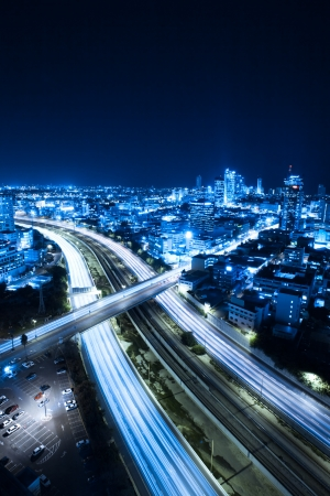 Aerial  View Of Tel Aviv At Night - Tel Aviv Cityscape Stock Photo