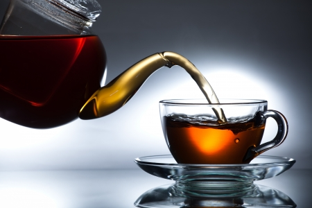 Flowing tea photo