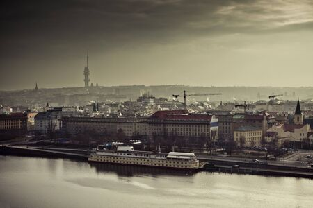 View on the Prague at sunset, Czech Republic, Europe. photo