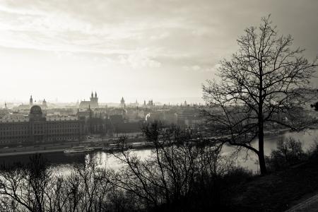 Prague at sepia photo