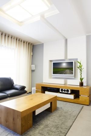 Modern room with plasma tv  photo