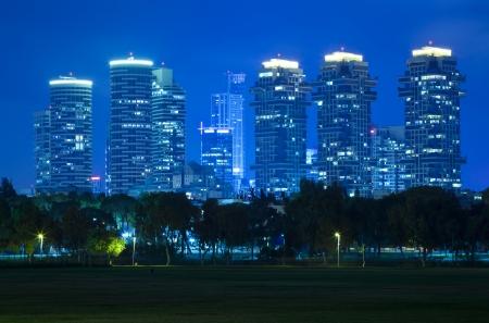 outdoor lighting: Luxury building in Tel Aviv - North Tel Aviv