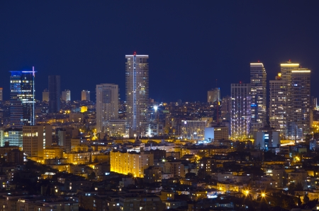 Tel Aviv Skyline at night Stock Photo - 14479595