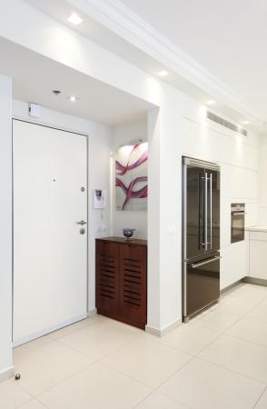 fridge lamp: Home Entrance Designs - Modern Entry Interior   Stock Photo
