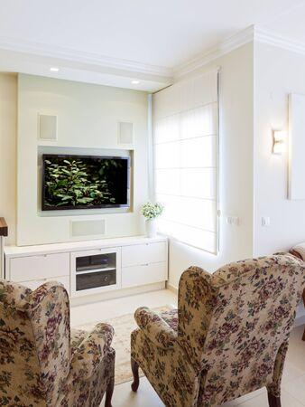 Modern room with plasma tv Stock Photo - 14447216