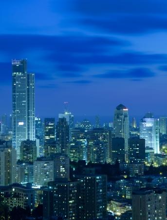 ramat aviv: Tel Aviv and Ramat Gan Skyline at night