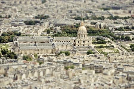 tilt: City skyline -Les Invalides,  Paris, France The National Residence of the Invalids
