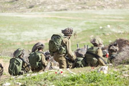 Israel Defense Forces - Fallschirmjäger-Brigade während des Trainings Standard-Bild