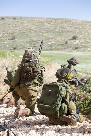 israel war: Israel Defense Forces - Paratroopers brigade during training Stock Photo