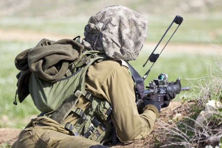Siły Obronne Izraela - spadochroniarze straży podczas treningu
