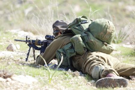 イスラエル国防軍の訓練中に落下傘旅団 写真素材