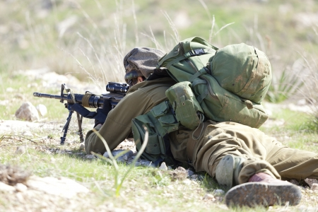 military training: Israel Defense Forces - Paratroopers brigade during training
