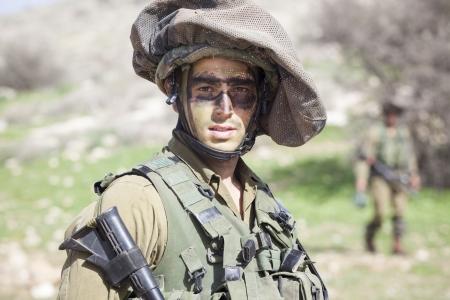 Israel - February 02, 2012; Israeli Paratroopers brigade during training Israel Defense Forces