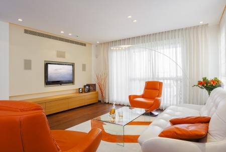 Luxus Modern Living Room Lizenzfreie Bilder