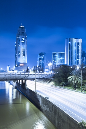 Tel Aviv Cityscape - Traffic on Ayalon Freeway Stock Photo - 20215247
