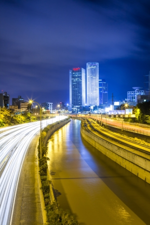 Tel Aviv Cityscape - Traffic on Ayalon Freeway photo