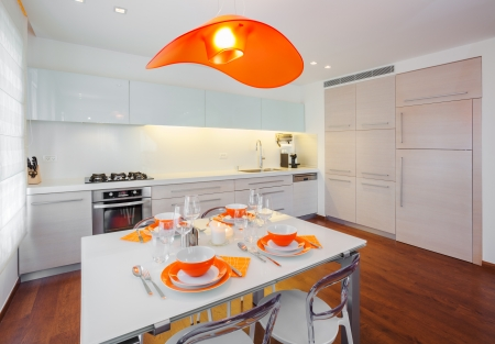 Luxus Küche Design Standard-Bild - 19969166