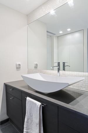 bathroom mirror: Modern luxury bathroom