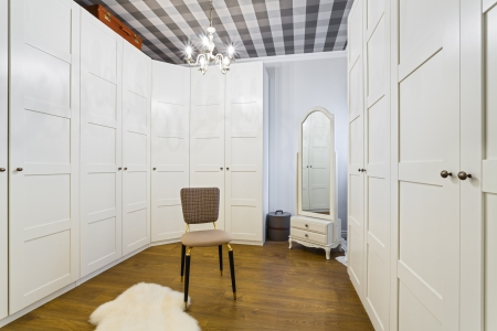 Luxury Wardrobe Room - Interior Design Stock Photo