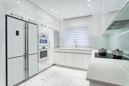 man made structure: Modern Luxury White kitchen