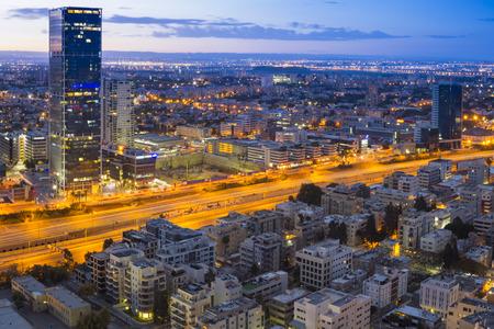 Tel Aviv Cityscape - Traffic on Ayalon Freeway photo